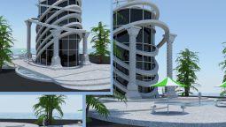 დავამოდელებ არქიტექტურულ ნახაზს (პროექტს)  3D max-ში