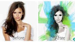 1 ფოტოსურათს გავუკეთებ Watercolor ეფექტს Photoshop-ში